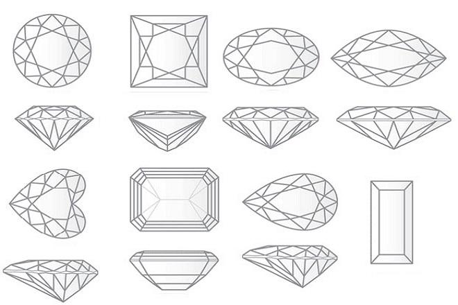 Форма алмаза