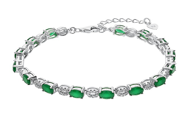 Браслет из зеленого бриллианта
