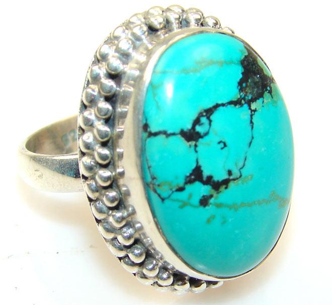 кольцо с зеленой бирюзойкольцо с зеленой бирюзой