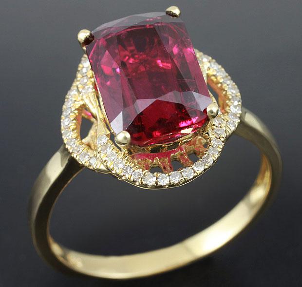 кольцо с рубеллитом