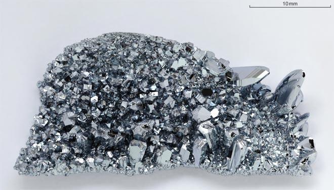 Кристаллы осмия чистотой 99,99 %