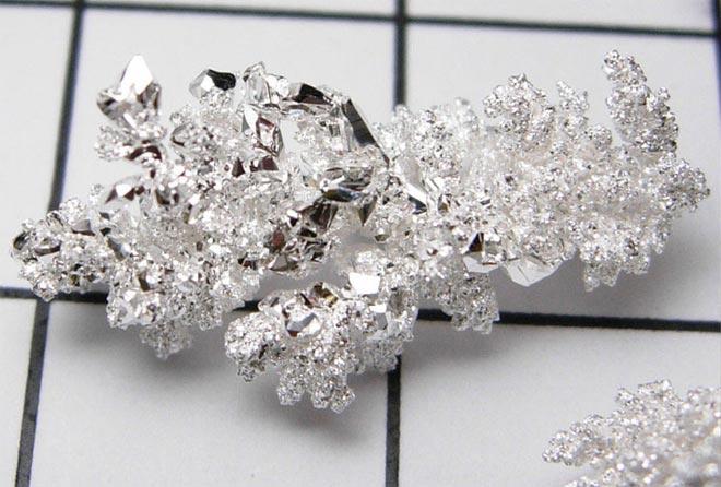 серебро кристаллы