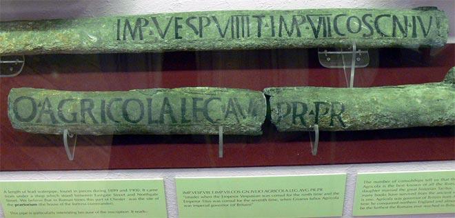 Свинцовые трубы древнеримского водопровода с надписями