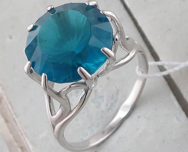 кольцо с Индиголитом